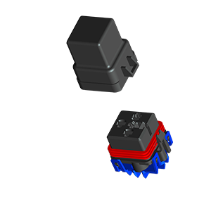 push to seat relay holder, push to seat relay connector